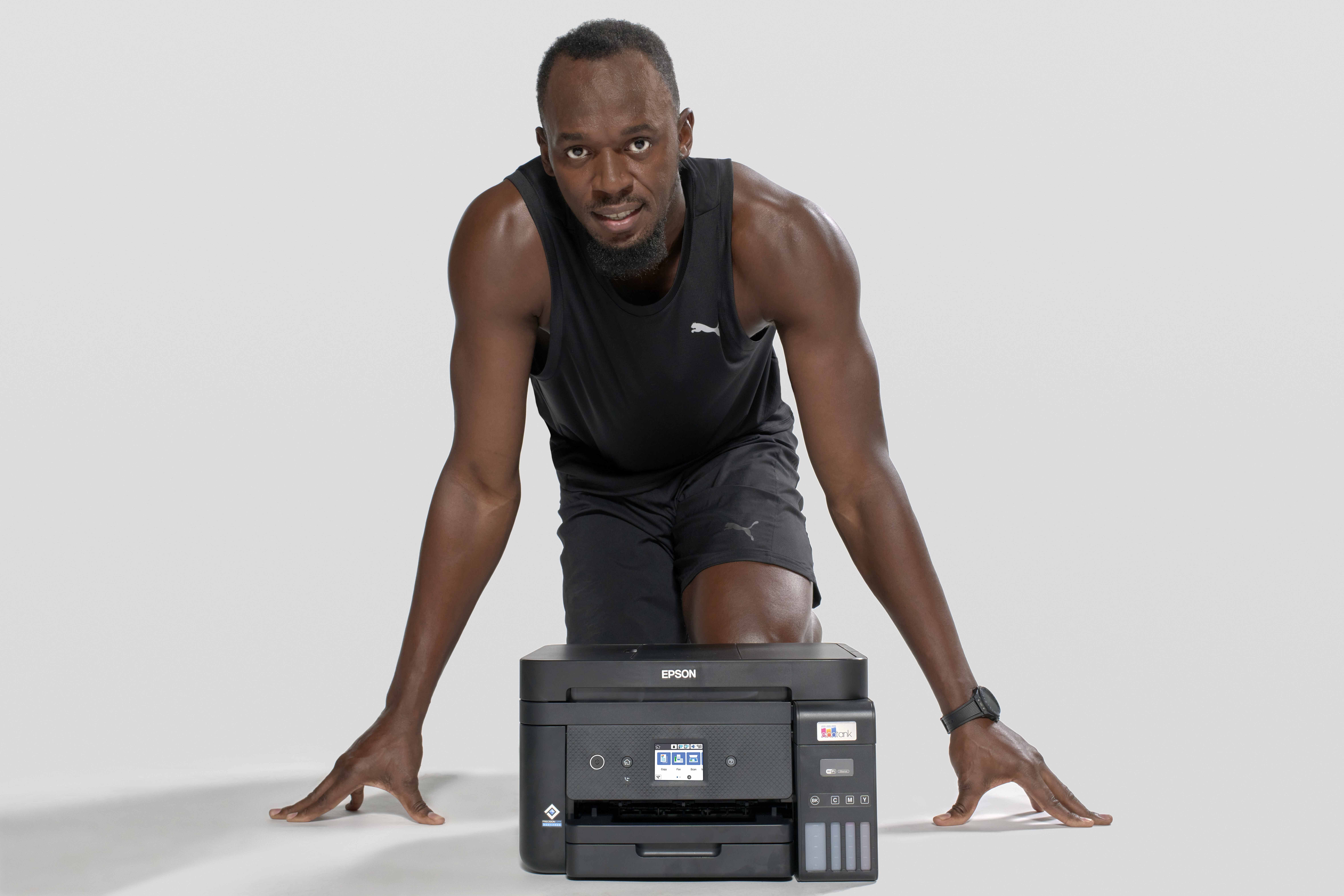 Epson combines print with sprint: partners with Usain Bolt in Europe
